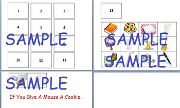 If You Give A Mouse A Cookie Organizer and Activity RL1, RL2, RL3, RL5