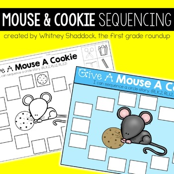 graphic regarding Sequencing Cards Printable named Mouse and Cookie Electronic and Printable Sequencing Playing cards