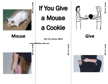 If You Give A Mouse A Cookie Sign Language (ASL) Vocabulary Cards