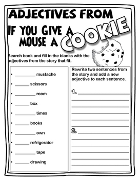 If You Give A Mouse A Cookie by Laura Joffe Numberoff - Book Study