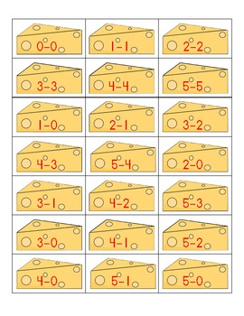 If You Give A Mouse A Subtraction Fact!  Subtraction Facts 0 to 5