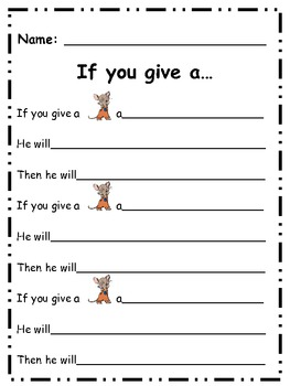 If You Give A Mouse Cause Effect Handout