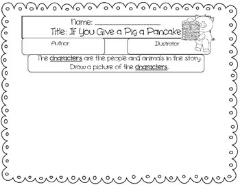 If You Give A Pig a Pancake- Literacy and Math Fun!