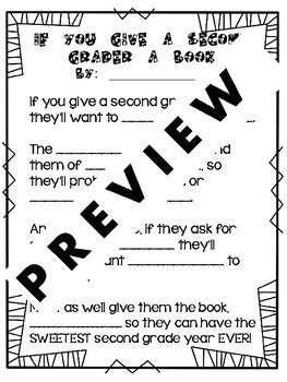If You Give A Second Grader a Book