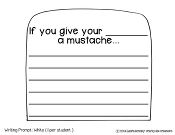 """Mother's Day """"If You Give My Mom a Mustache"""" Craftivity"""