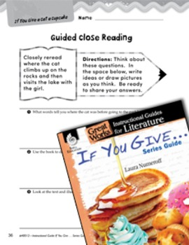 If You Give . . . Series Guide Close Reading and Text-Dependent Questions