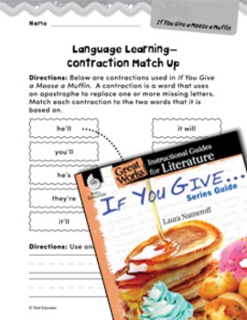 If You Give . . . Series Guide Language Learning Activities