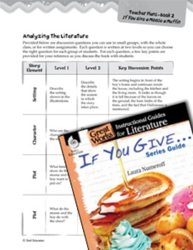 If You Give . . . Series Guide Leveled Comprehension Questions