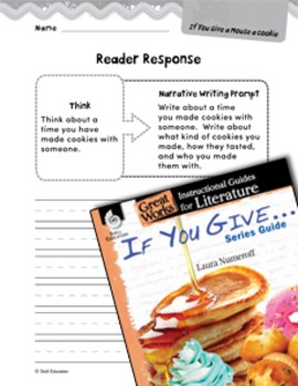If You Give . . . Series Guide Reader Response Writing Prompts