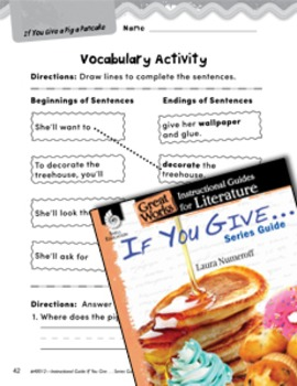 If You Give . . . Series Guide Vocabulary Activities