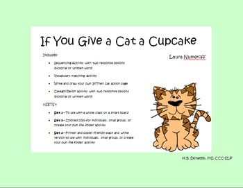 If You Give a Cat a Cupcake