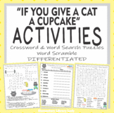 If You Give a Cat a Cupcake Activities Numeroff Crossword
