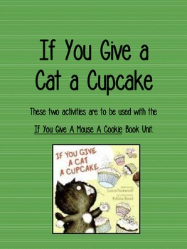If You Give a Cat a Cupcake Add On
