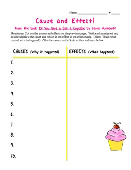 If You Give a Cat a Cupcake Cause and Effect Sort