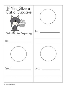 If You Give a Cat a Cupcake - Sequencing Activities