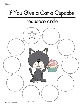 If You Give A Cat A Cupcake Sequencing Activities By Liv