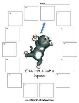 If You Give a Cat a Cupcake: Sequencing, Cause and Effect, Writing Prompts