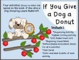 If You Give a Dog a Donut 4 in 1 Activity Packet