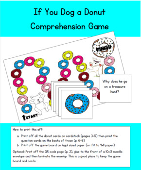 If You Give a Dog a Donut Comprehension Game