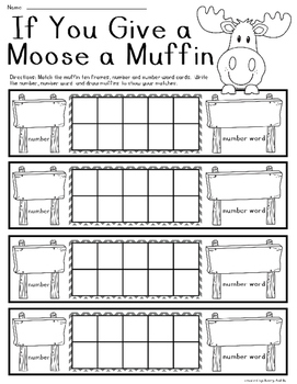 If You Give a Moose a Muffin Number Sense Center