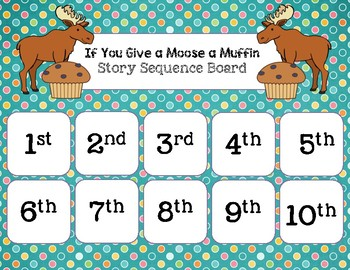 If You Give a Moose a Muffin - Story Sequencing & Ordinal Numbers
