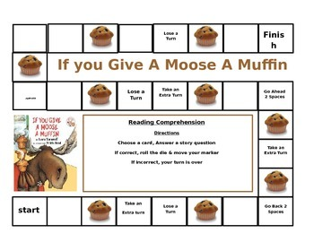 If You Give a Moose a Muffin gameboard