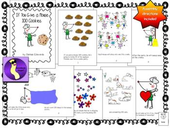 If You Give a Mouse 100 Cookies Reader Printable Booklet for Literacy