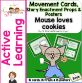 If You Give a Mouse Cookies Movement Cards and Posters