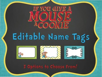 If You Give a Mouse Editable Name Tags