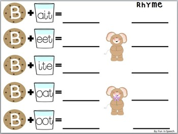 """If You Give a Mouse a Cookie"" Book Companion Language Activities"