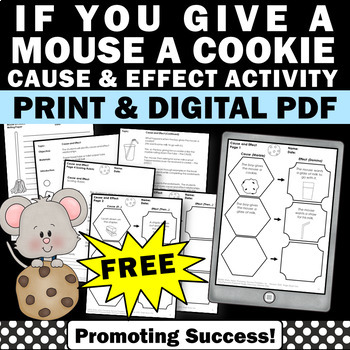free mouse a cookie cause and effect worksheets