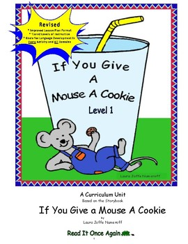 If You Give a Mouse a Cookie Level 1 Digital Version