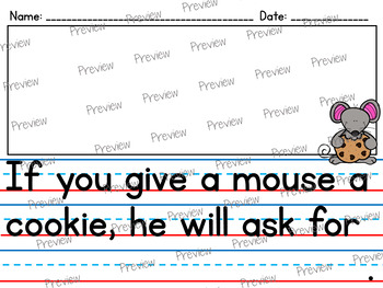 If You Give a Mouse a Cookie: Literacy & Math Centers