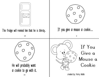 If You Give a Mouse a Cookie Mini Books by Kerry Antilla   TpT
