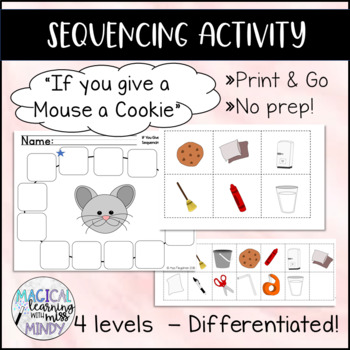 If You Give a Mouse a Cookie Sequencing Activity - Differentiated