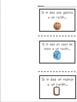 If You Give a Mouse a Cookie Cause and Effect in SPANISH