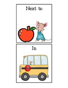 If You Take a Mouse to School Spatial Concept Flashcards