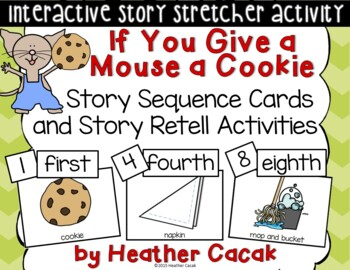 If You Give a Mouse a Cookie Story Sequence Retelling Cards (Math and Literacy)