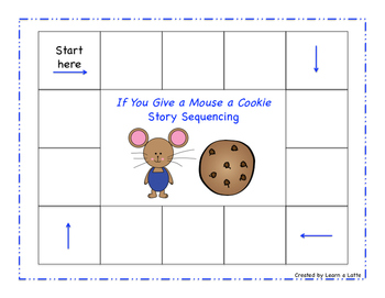 If You Give a Mouse a Cookie Story Sequencing
