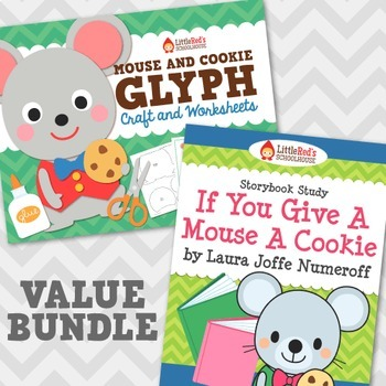 If You Give a Mouse a Cookie Story Study and Glyph Craftivity Bundle