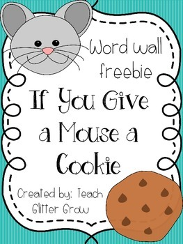 If You Give a Mouse a Cookie Word Wall Vocab