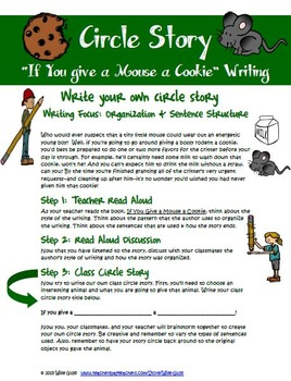 If You Give a Mouse a Cookie Writing Activity (Circle Story)
