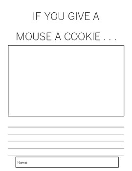 If You Give a Mouse a Cookie - writing activity