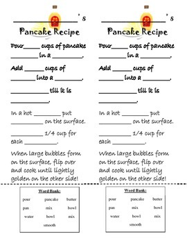 If You Give a Pig A... Recipe Card