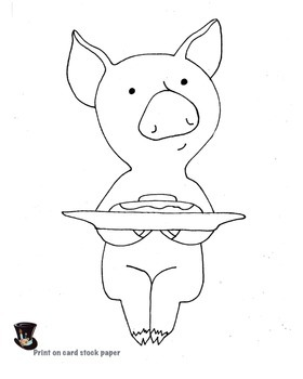 If You Give a Pig a Pancake, Art lesson for kids