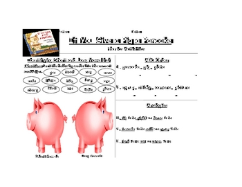If You Give a Pig a Pancake short/long a, ABC order, analogies
