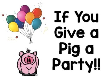 If You Give a Pig a Party Budget Activity