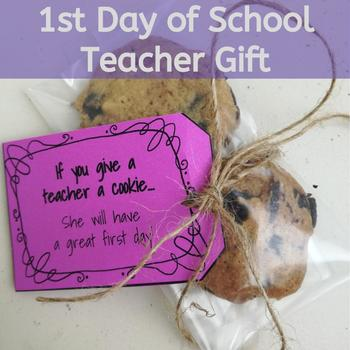 If You Give a Teacher a Cookie... Back to School Teacher Gift