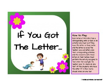 If You Got The Letter… An Fun Educational Game for Learning the Letters