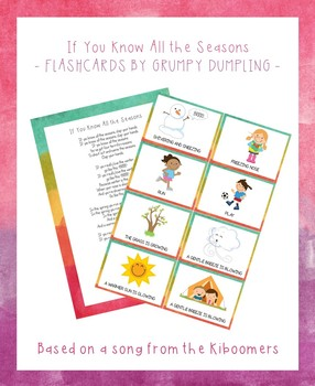 If You Know All the Seasons - Flashcards for the Kiboomers' Song